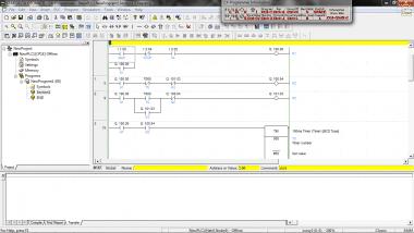 membuat program PLC (Programmable Logic Controller) OMRON