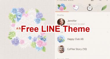 memberi link untuk mendownload New Theme Line