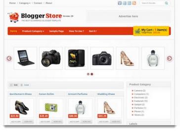 buatkan toko online berbasis blogspot