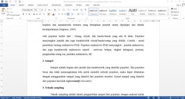 mengetikkan makalah maksimal 20 halaman secara cepat, tepat, dan rapi