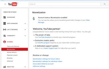 buatkan 3 akun google adsense youtube sehingga bisa monetize video