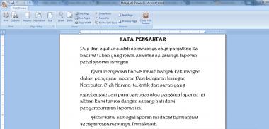 Mengetik apa yang anda mau dengan aplikaasi microsoft word