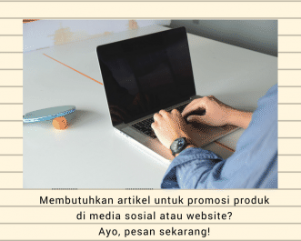 menuliskan 1 artikel promosi produk