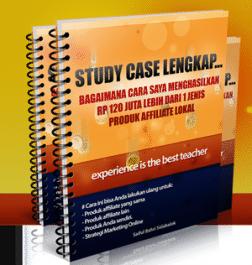 menjual ebook Study Case 120 Juta lebih dari affiliate lokal