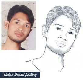 membuat sketsa wajah atau benda yang anda inginkan