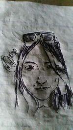 Menggambar wajah kamu