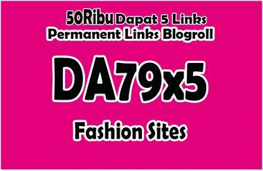 memberikan Domain DA79x5 Fashion Situs Permanent Blogroll