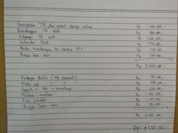 mengerjakan tugas jurnal akuntansi