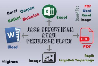 Menulis atau mengetik ulang dalam tugas dan hasilnya rapih