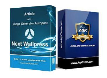 memberikan plugin WP AGK dan Next Wallpress, masing-masing
