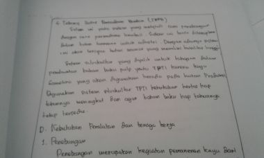 Mengerjakan makalah, tulis tangan anda