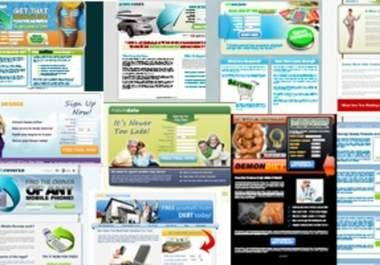 memberikan pada Anda '92 High Quality CPA Landing Pages Squeeze Pages Multiple Styles and Layouts'