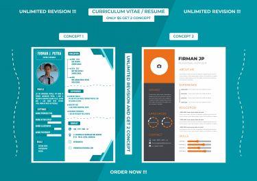 Membuatkan CV atau Resume Desain