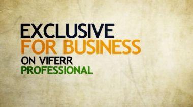 membuat Video Intro untuk Bisnis anda dalam HD Quality dan 24 jam