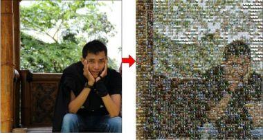 buat fotomu menjadi Foto Mozaik dengan foto-foto lainnya