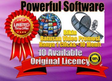 Kasih Original Software untuk Bikin Ratusan Unik VIDEO Promosi hanya dengan 1 Click
