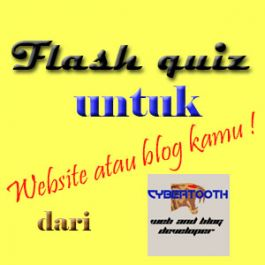 buatkan 1 quiz dengan10 pertanyaan dan background yang menarik serta berkaitan dengan website atau blog Anda dalam bentuk flash
