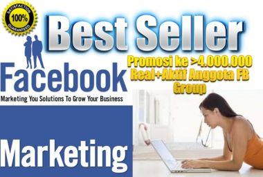 Promosi Website anda ke 4.000.000+ Real dan Aktif Member Facebook Group