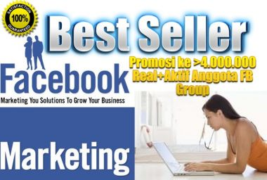 Promosi Website anda ke 4.000.000+ Real dan Aktif Member Facebook Group