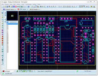 buatkan kamu desain PCB dengan proteus utk semua skematik elektronik