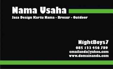 Membuat design KARTU NAMA yang menarik sesuai warna kesukaan anda