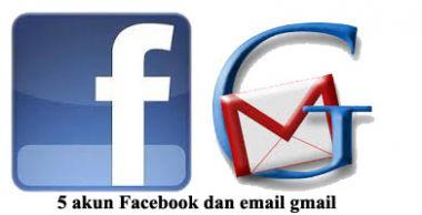 membuatkan anda 5 akun fb baru dengan nama sesuai dengan keinginan dan 5 email gmail baru
