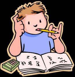 mengerjakan PR anak SD