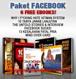 """memberikan E-book premium """"Cara Menaklukkan Wanita"""" dari Hitman System"""
