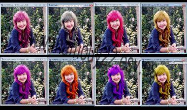 merubah 10 warna rambutmu dalam 1 jam + PSD format dan tutorial