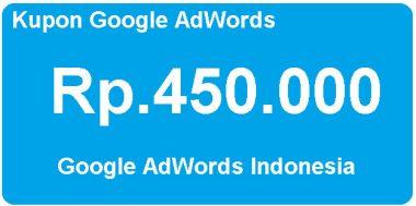Aku akan memberikan Kode Voucher Adwords Senilai Rp.450.000 (stok banyak)