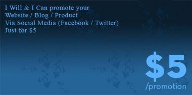 mempromosikan web/blog/usaha ada di FB / Twitter