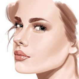 melukis portrait wajah kamu dengan photoshop
