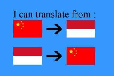 menerjemahkan bahasa Mandarin ke bahasa Indonesia atau Indonesia ke Mandarin 350 kata