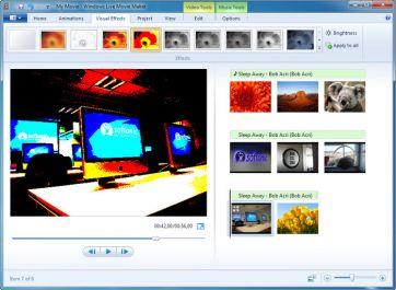 membuatkan video menggunakan movie maker dengan lagu favorit anda pada foto-foto kengan anda