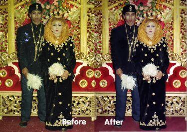 memperbaiki foto rusak menjadi baru kembali